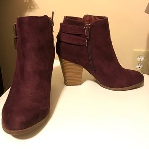 Charlotte Russe chunky ankle booties